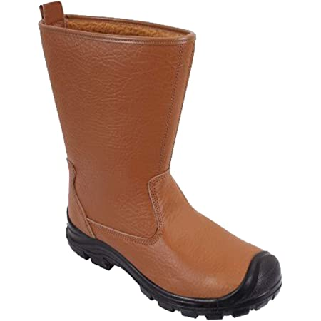 DURUS WORKWEAR Steel Toe Cap Safety Protective Fur Lined Rigger Boot
