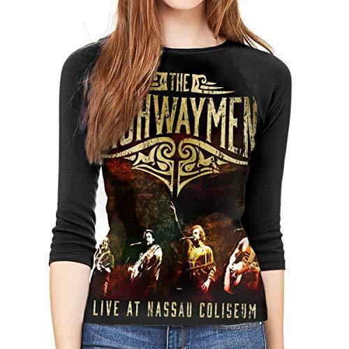 Henrnt The Highwaymen Shirt Teen Girl Damen Raglan Bluse 3/4 Arm T-Shirt Bluse Top Round Neck T-Shirt Baseball Shirt