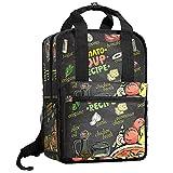 aitai zaino per zuppa di pomodoro ricetta menu lavagna design zaino bookbag per ragazzi college daypack borsa da viaggio