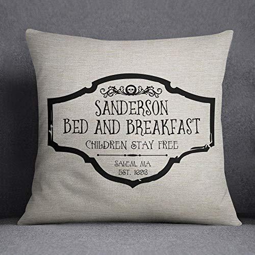 Alicert5II Sanderson Bed & Breakfast Hocus Pocus Film citaat kussensloop kussensloop 18 x 18 inch machinewasbaar milieuvriendelijke inkt