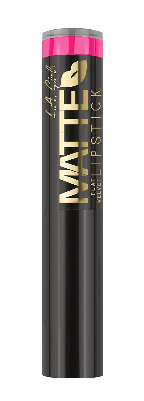 散髪ボーナスあからさまL.A. GIRL Matte Flat Velvet Lipstick Electric (並行輸入品)