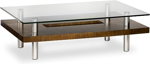 BDI Distributors Inc. BDI Chocolate Walnut and Glass Long Coffee Table