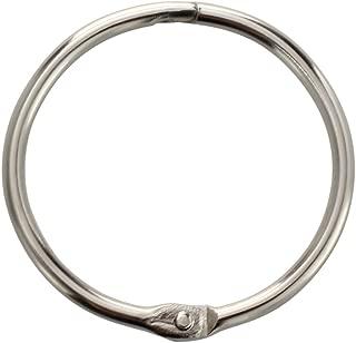 1Inch (80 Pack) Loose Leaf Binder Rings, Nickel Plated Steel Binder Rings, Keychain Key Rings, Metal Book Rings, Silver, for School, Home, or Office