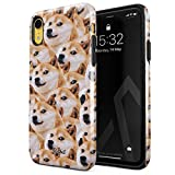 Glitbit Coque pour iPhone XR Case Doge Pattern Shiba Inu Akita Cute Dog Puppy Doggo Chien Housse...