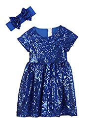 Royal Blue Toddlers Sequin Dress