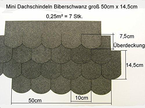 Martinshof Rothenburg Diakoniewerk 1m² Mini - Dachschindeln Biberschwanz (100 mm) - Grau 23.419