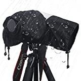 カメラレインカバー 改良品大きいサイズ カメラ レインジャケット 超長レンズ対応 二段階式 軽量薄柔らかな素材 フレキシブル 防水防塵 簡単操作 カメラ 一眼レフ用