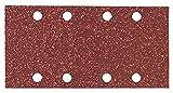 Bosch 2 609 256 A80 - Juego de hojas de lija de 10 piezas para lijadora orbital