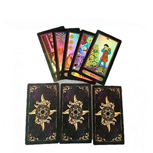 Hotaden 1 Satz Tarot Deck Set Weissagungs Deutsche Version Karte Brettspiele Zubehör ???? für Erwachsene 78 Karten
