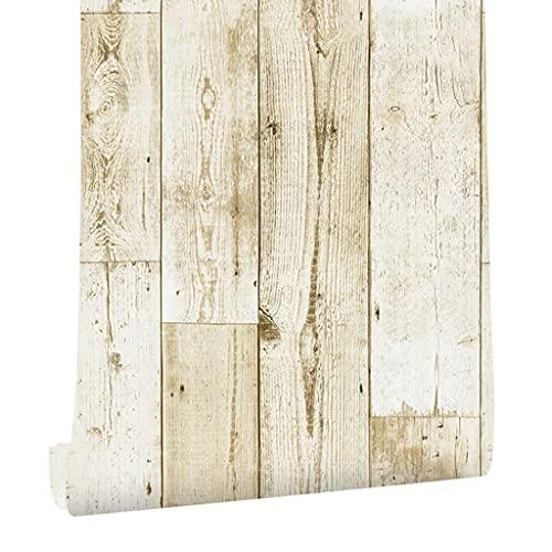YWSZJ Cáscara clásica y Palanca de Madera tablón Wallpaper Etiqueta Vinilo Auto Adhesivo Papel diseño de Papel para Paredes baño baño decoración (Size : 6mx45cm)