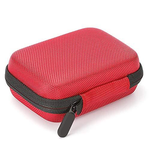Estuche rígido para Unidades de Estado sólido externas Samsung T5 / T3 / T1 portátiles de 250GB 500GB 1TB 2TB SSD USB 3.0, Bolsa de Almacenamiento portátil - Rojo