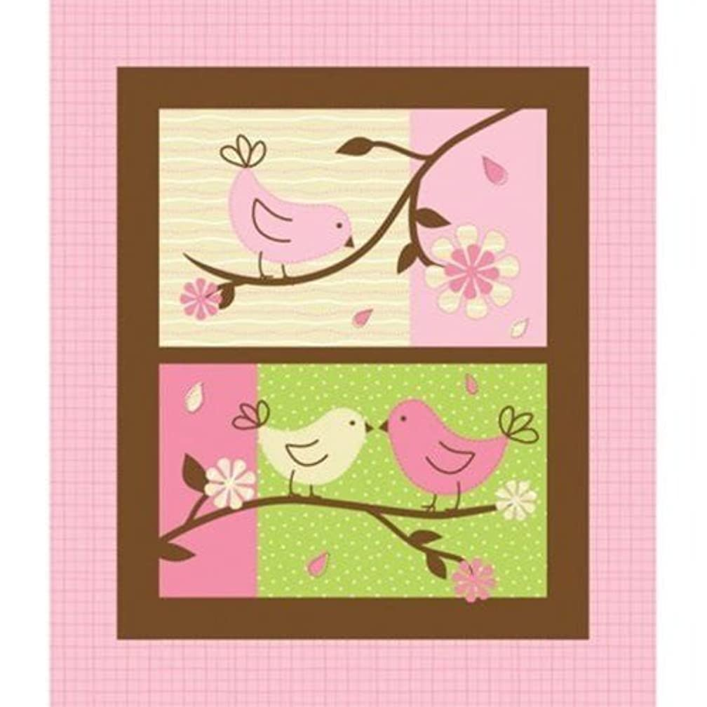Birdie in Pink Flannel Fabric Panel (Great for Quilting, Throws, Sewing, Craft Projects, Wall Hangings, and More) 36