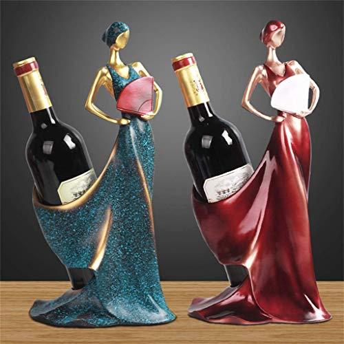 HY-WWK Tisch Weinregale Flaschenhalter Polyresin Elegante Königin Der Faltfächer Kreative Einrichtungsgegenstände Arbeitsplatte Display Stand - 1Stück Rack,# 1