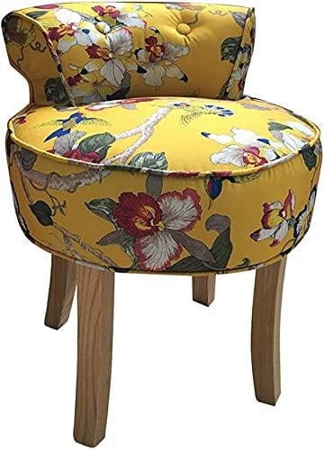 ZHBH Fan Back Vanity Panchine Sedia Imbottita Lounge Dressing Chair Sedia da Pianoforte Barocco con Gambe in Legno massello, per Soggiorno Camera da Letto