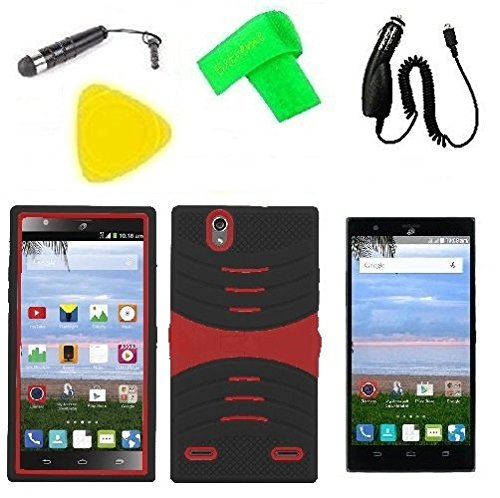 Hybrid w Kickstand Cover Phone Case + Screen Protector + Car Charger +...