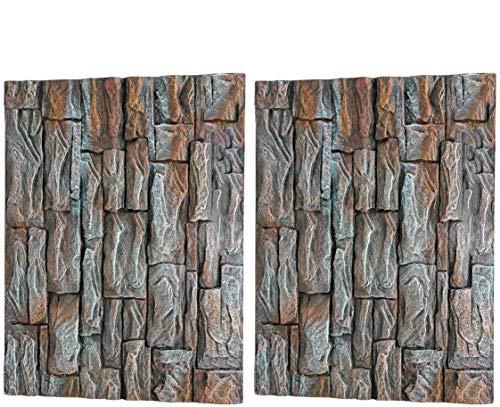 LACKINGONE 3D Foam Rock Aquarium Hintergrund Aquarium Board Stein Dekoration für Reptilien/Wassertiere
