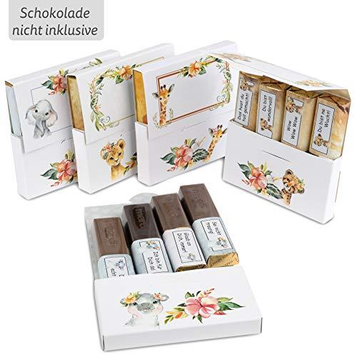 Netti Li Jae ® Aufkleberset für Merci-Schokolade: Das persönliche Dankeschön & kreative Geschenk – für 5 personalisierte Geschenke – persönliche Geschenkidee (Für Kinder)