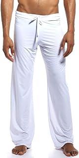 Männer Sheer Schlafanzughose Lounge Hose Bottoms Pajama See Through Sommer Mesh