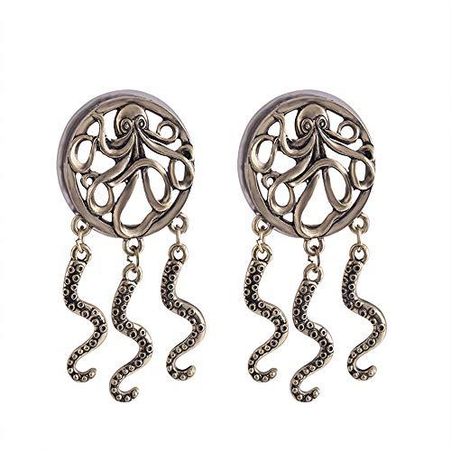 XZ15 Oor expander lichaam piercing roestvrij staal katrol oor uitbreiding Octopus hanger oor profiel oor gat uitbreiding speciale oorbel