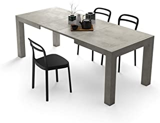 Mobili Fiver, Table Extensible Cuisine, Iacopo, Ciment, 140 x 90 x 77 cm, Mélaminé, Made in Italy