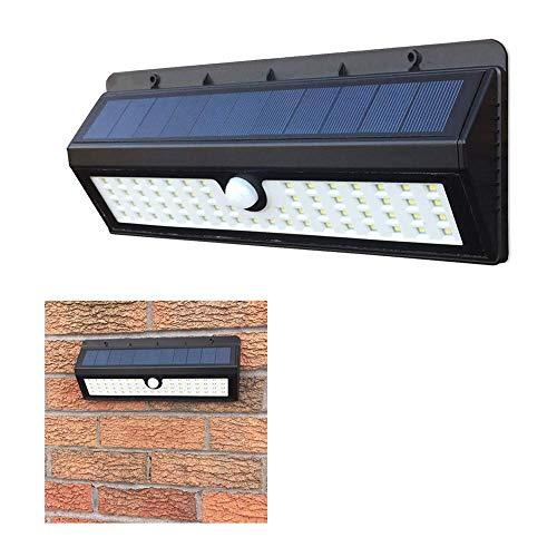 4400mAh Solarleuchten für Außen 62 LED, Auccy Solarlampen mit Bewegungsmelder Solar Wasserdichte Wandleuchte Solar Aussenleuchte Solarlicht für Garten, Patio, Deck, Hof