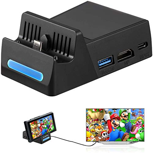 Pocket TV Dock for Nintendo Switch, SHINGO PD Protocol Avoids Brick with HDMI and USB 3.0 Port
