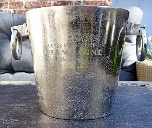 Michael Noll - Glacette per champagne, in alluminio, argento, S, M, L, 20 cm, 23 cm, 32 x 24 x 23 cm