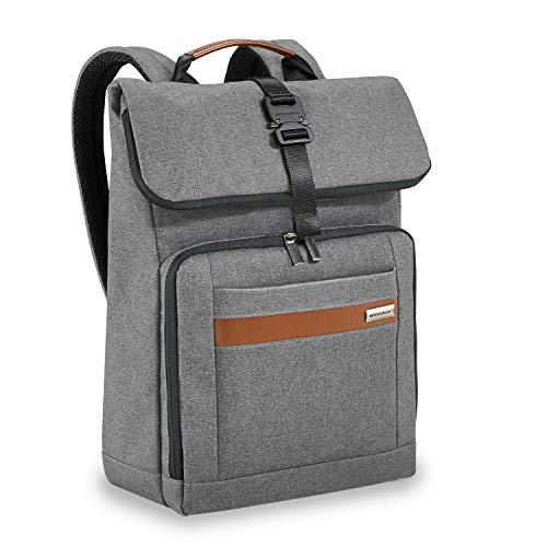 Briggs & Riley Kinzie Street - Medium Foldover Backpack, Grey, One Size