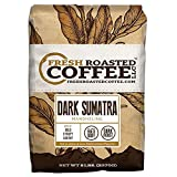 Fresh Roasted Coffee LLC, Dark Sumatra Mandheling Coffee, Dark Roast, X-tra Bold, Whole Bean, 5 Pound Bag