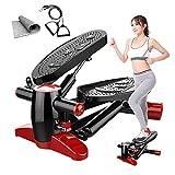 MOLINGXUAN Schrittmaschine, 150 Kg Gewicht-Lager Multi-Funktions-Mini Laufband, Fitness Stepper mit...