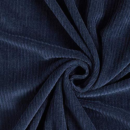 Fabulous Fabrics Bio Cord Nicki Stoff   Hamburger Liebe – Navy — Meterware ab 0,5m — zum Nähen von Babybekleidung, Hosen und Jumpsuits