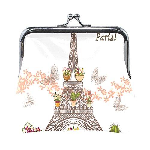 COOSUN Torre Eiffel con Flores y alfareros del Cuero de la Moneda...