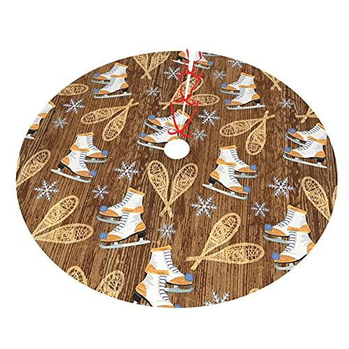 KXT Winter Wonderland Christmas Tree Skirt,Tree Skirt for Christmas Decorations Holiday Tree Xmas Ornaments,Double-Layer 36