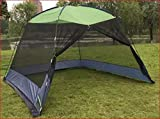 DeFacto Campingzelt Sonnenschutz Pavillon Moskitonetz Gartenzelt Sonnendach Pop Up Zelt -5 Personen mit Tasche 300x300x210cm