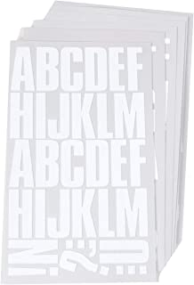 Sei 2 Inch Block Letter Iron-on Transfer Bundle Pack, 6 Sheets, White Flock (White, 2 Inch) U.S.A.