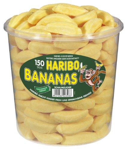 HARIBO Bananas 150 Stck. Runddose (Schaumzucker Bananen)