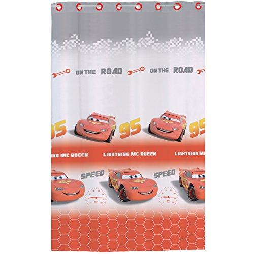 CTI - Disney - Voilage à Œillet Cars Polyester, Rouge, 240x140 cm