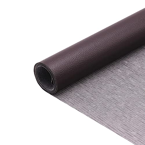 FOTBIMK Self Adhesive Leather Roll Leather Repair Tape 1.64 X 4.53Ft Patch Leather Adhesive For Sofas, Car Seats, Handbags, Jackets,First Aid Patch