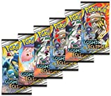 Pokemon Sun and Moon Cosmic Eclipse Six (6) Booster Pack Lot TCG