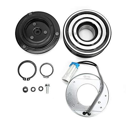 Klimaanlage Kompressorkupplung, A/C Eisen Klimaanlage Kompressor Kupplung Riemenscheibe 13124751 Passend für Astra/Zafira