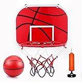 VGEBY - Juego de aro de baloncesto para montar en la pared, diseño de basquetbol con bola y bomba