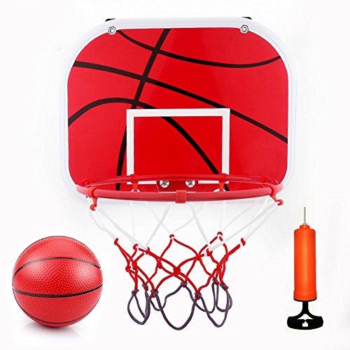 VGEBY Mini-Basketballkorb Set, Wandhalterung Basketballkorb Basketballkorb Türkorb Hängender Basketballboard mit Ball und Pumpe