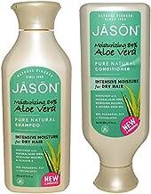 JASON All Natural Organic Aloe Vera Shampoo and Conditioner with Dry Hair Treatment Product, Calendula, Chamomile and Grapefruit, No Sulfates, No Parabens, Vegan, 16 fl oz each (Packaging May Vary)