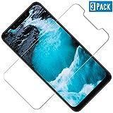TOCYORIC Panzerglas Schutzfolie für Xiaomi Pocophone F1, 3 Stück, HD, 9H Festigkeit, Kratzfest, Blasenfrei, Gehärtetes Glas Bildschirmschutzfolie für Xiaomi Pocophone F1