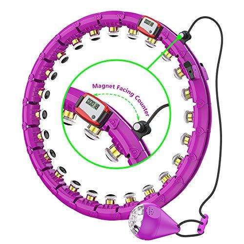 CYSJX Hula Hoop, Auto-Spinning Hoop, Einstellbar Hula Hoop Reifen Fitness Gewichtsverlust Mit Massagenoppe Für Kinder Erwachsene Anfänger Zum Abnehmen, 24 Segmente Nicht Fällt Reifen Mit Seilspringen