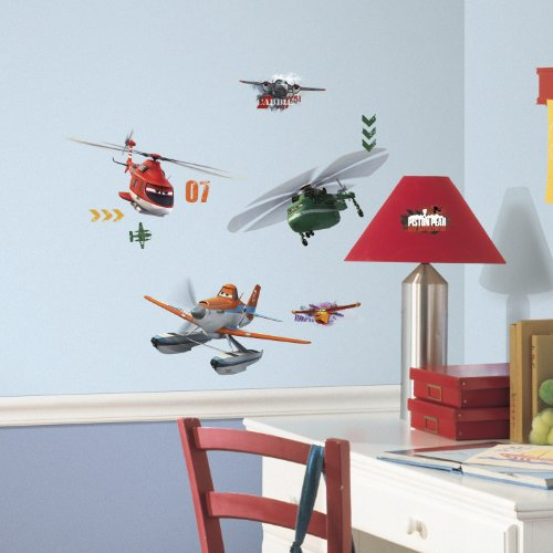 RoomMates Planes Fire & Rescue Peel & Stick Wall Decals