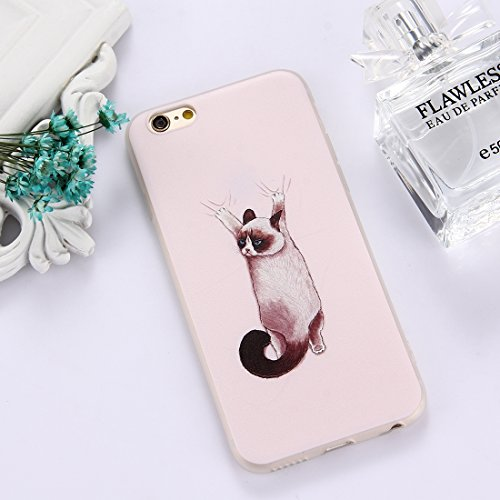 G-rf Hoesje Cover For de iPhone 6 Plus & 6s Plus TPU Frosted In reliëf Tulip Girl patroon beschermende Phone Case Back Cover (Color : Color7)