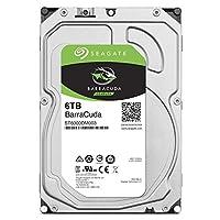Seagate BarraCuda 3.5インチ 6TB 内蔵ハードディスク HDD 2年保証 6Gb/s 256MB 5400rpm 正規代理店品 ST6000DM003