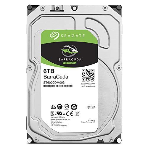 Seagate BarraCuda 3.5インチ 6TB 内蔵ハードディスク HDD 2年保証 6Gb/s 256MB 5400rpm 正規代理店品 ST60...