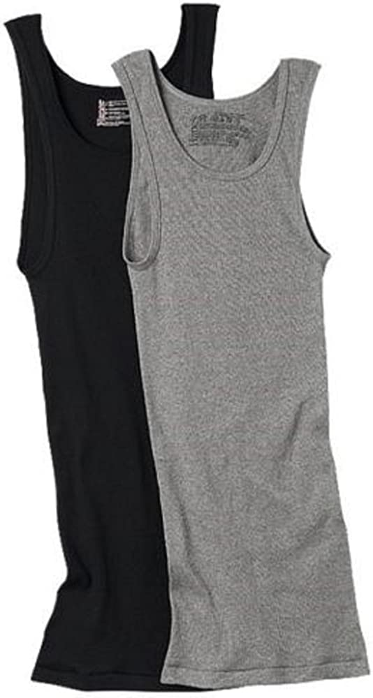 Hanes Men's Tagless ComfortSoft Cotton Color A-Shirt 6-Pack